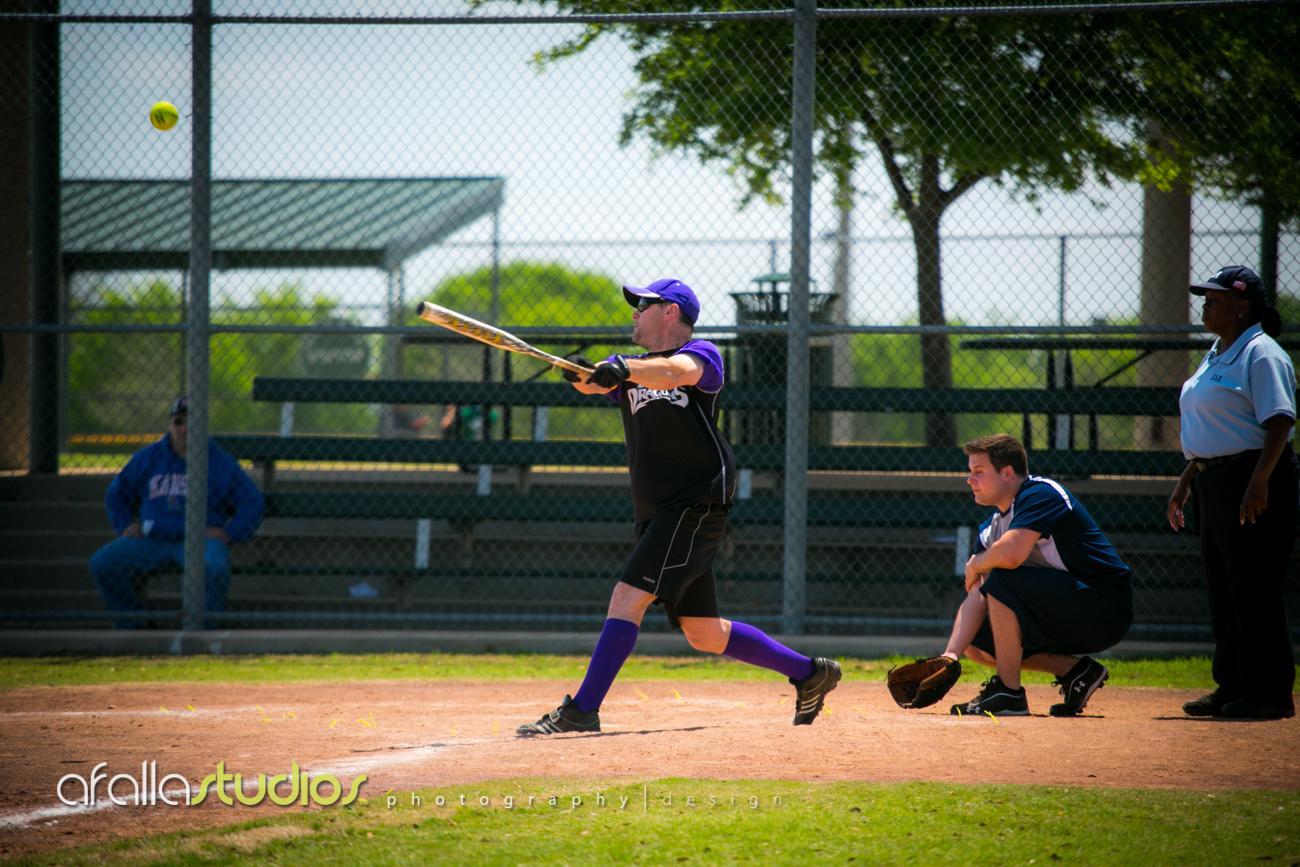 Jarrod hitting the ball.