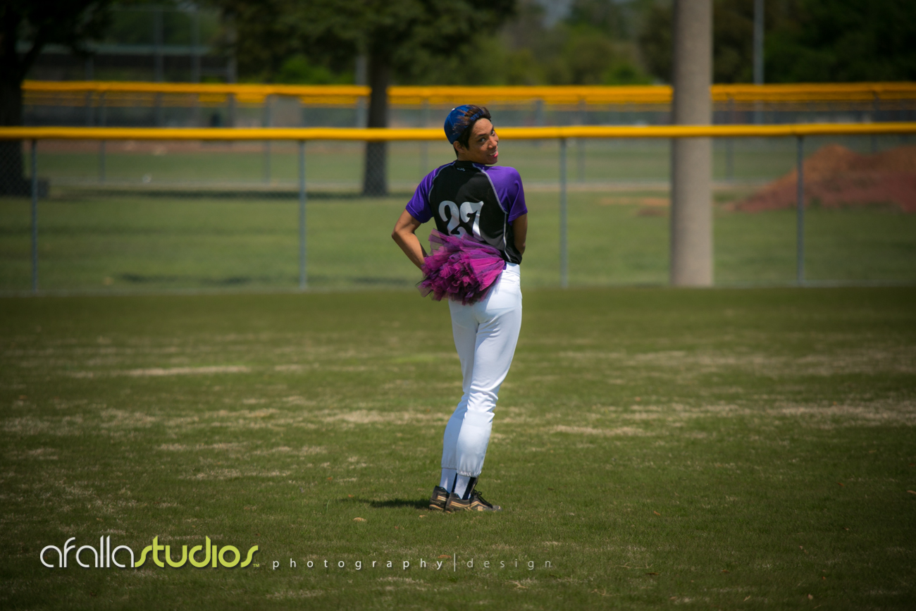Jonah sporting the purple tutu on the field....WERQ!