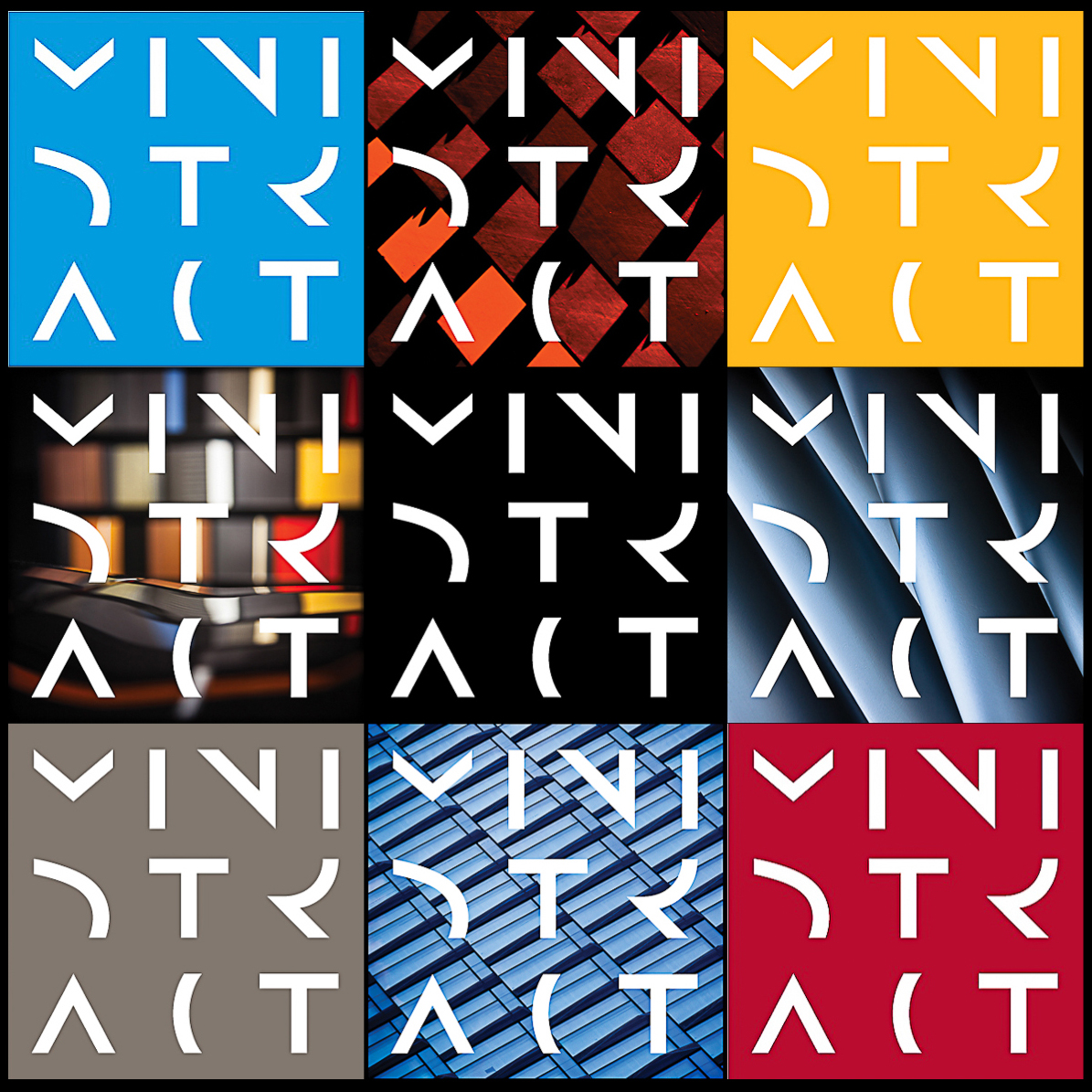 Nine versions of the ministract logo