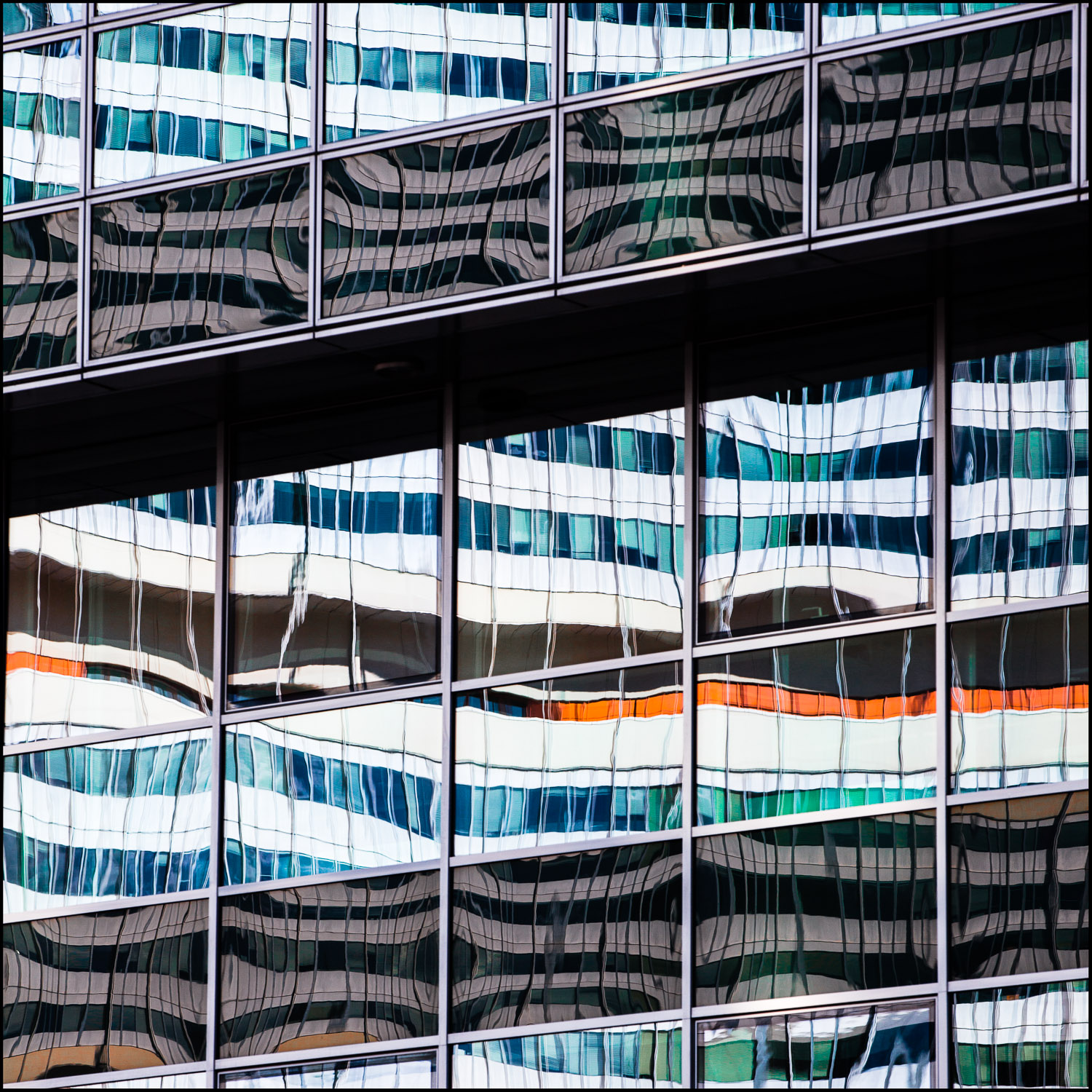 United Nations Office Vienna, reflected in the Tech Gate building
