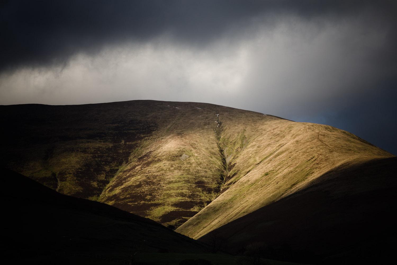 The Howgill Fells from the A683 near Sedburgh