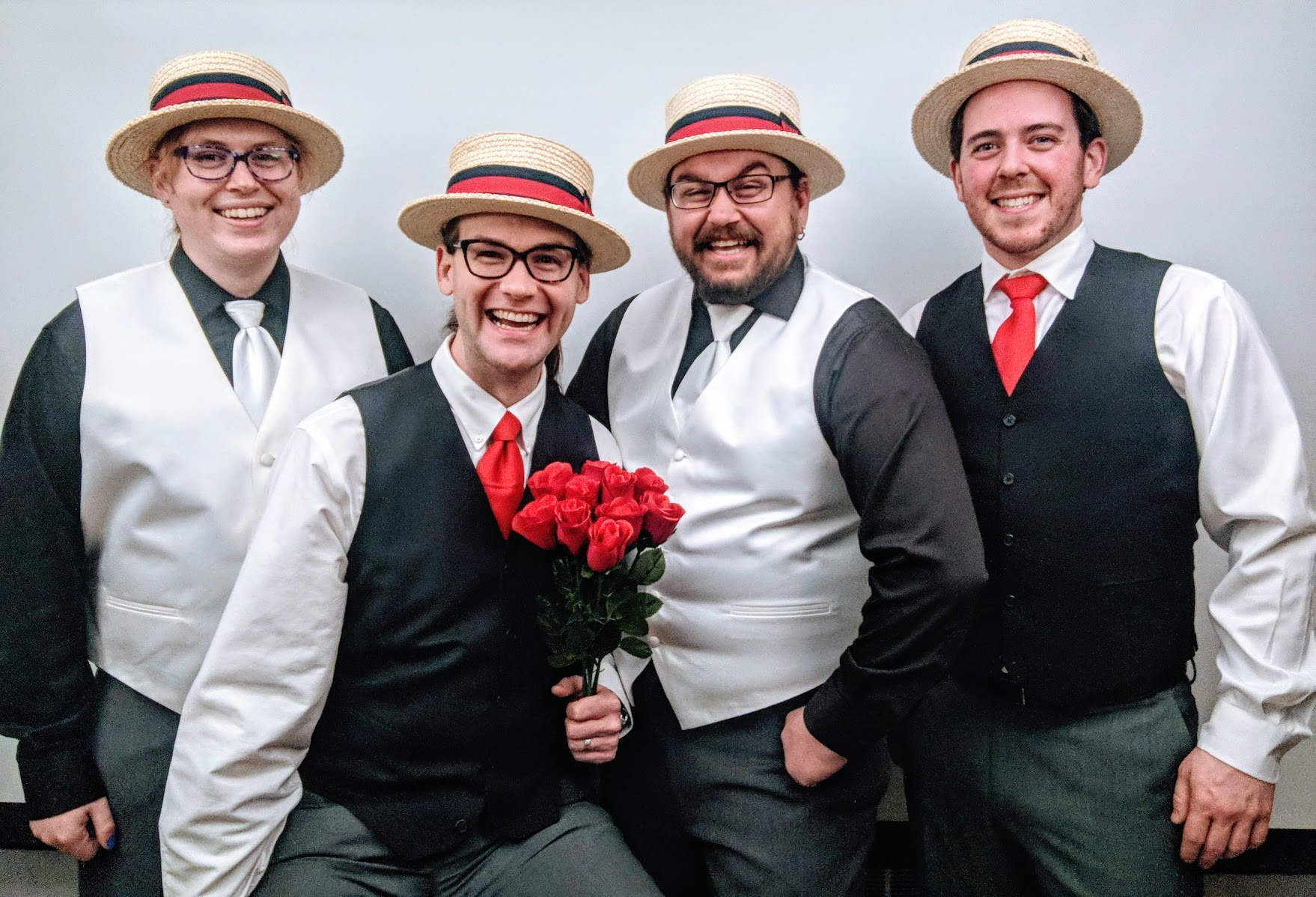 Pickup Stix Quartet delivering a Videogram to a lucky recipient