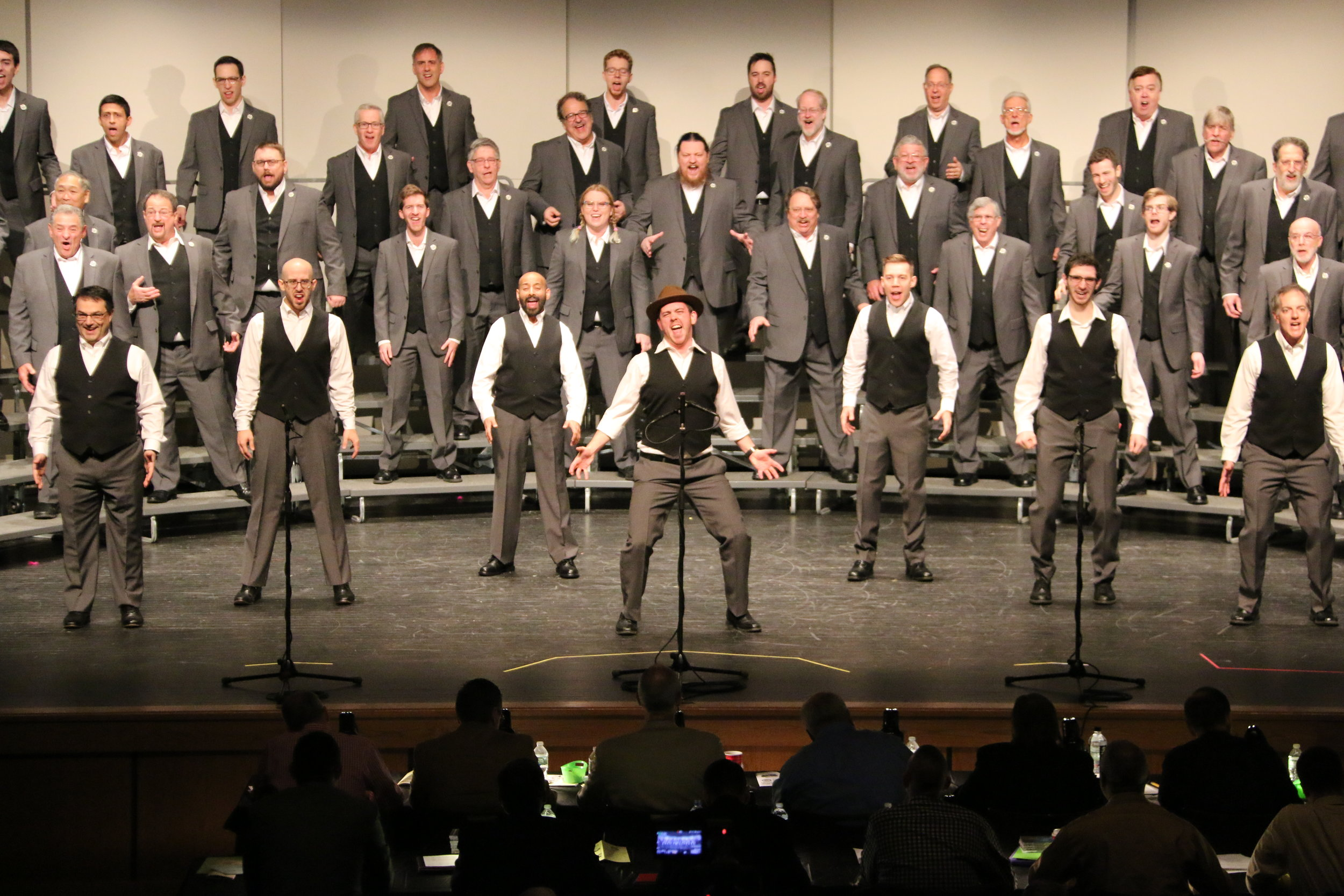 "Vocal Revolution performing ""Charlie & The MTA"""