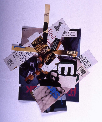 """the band 1991     collage 18""""24"""""""