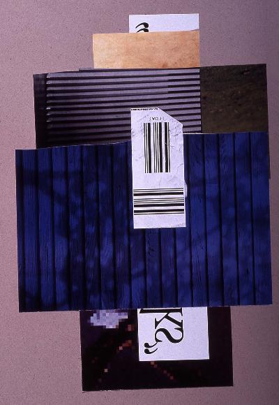 "landscape 1991 collage 18""24"""