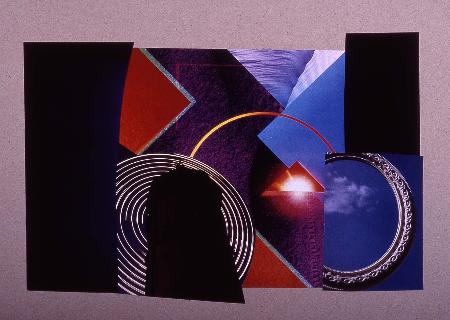 "round and round 1991     collage 24""x18"""