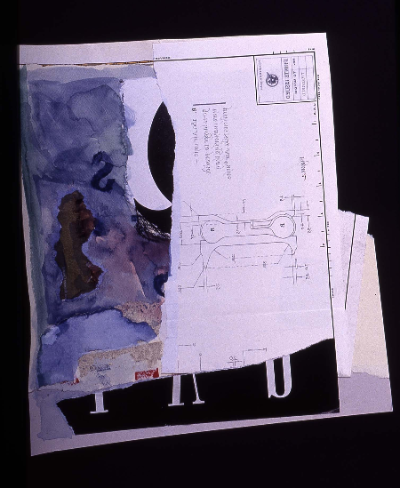 """s curve 1991 collage 18""""24"""""""