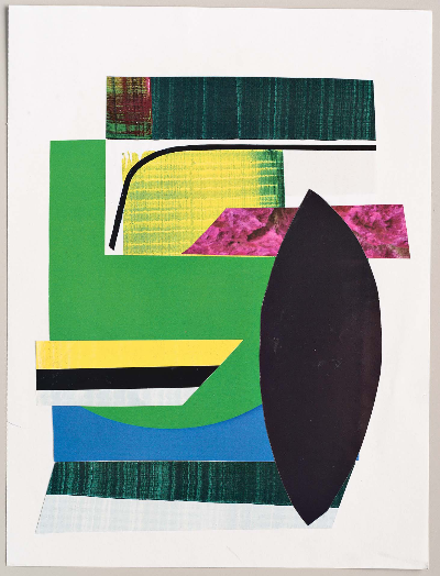 """pink and green 2011 collage 9""""x12"""""""