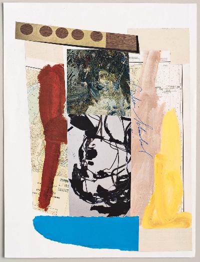 """brush 2011 collage 9""""x12"""""""