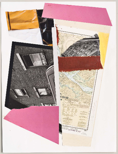 """window well 2011     collage 9""""x12"""""""