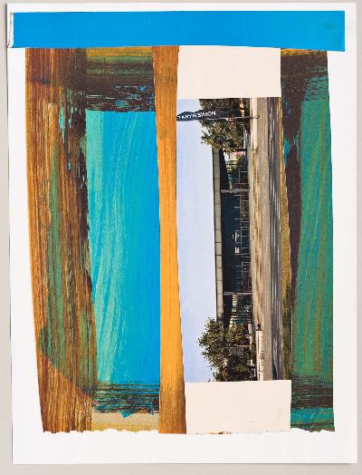 """prairie 2011 collage 9""""x12"""""""