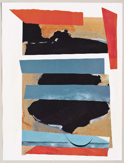 """ode to motherwell 2011 collage 9""""x12"""""""