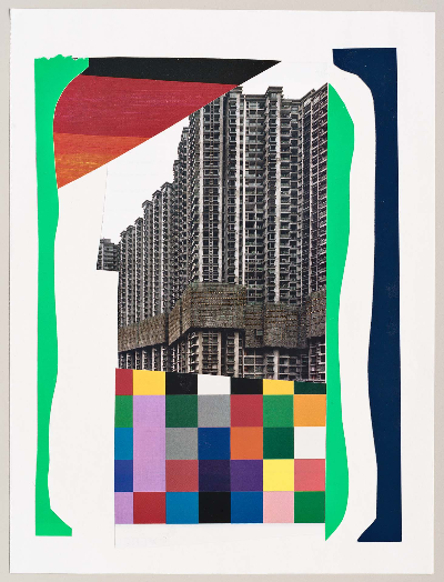"""park ave 2011 collage 9""""x12"""""""