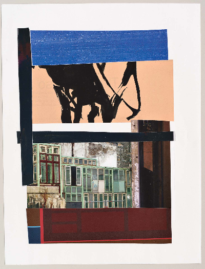 """glass wall 2011 collage 9""""x12"""""""