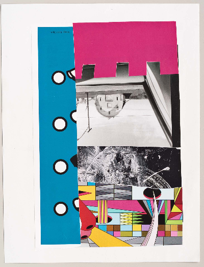 """pink dentile 2011 collage 9""""x12"""""""