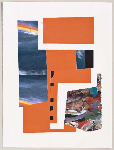 """detour 2011 collage 9""""x12"""""""