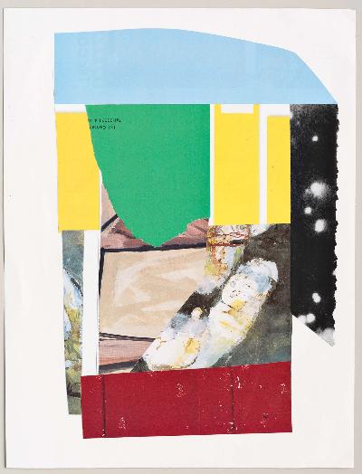 """burst 2011 collage 9""""x12"""""""