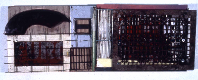 "great 1989 mixed media 39""x15"""