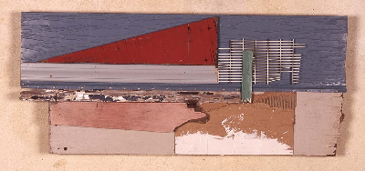"sail away 2001 mixed media 27""x16"""