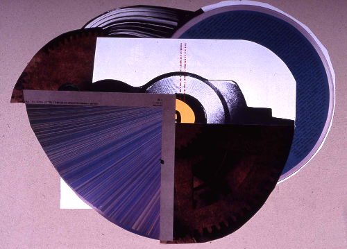 """eye of the beholder 1991 collage 24""""x18"""""""