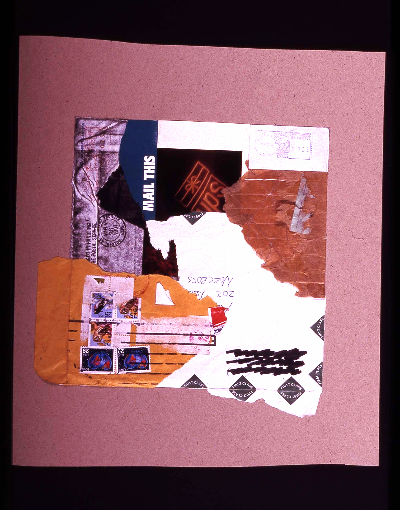 """mail this 1991 collage 18""""24"""""""