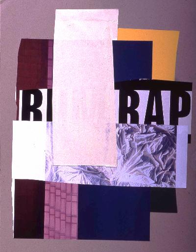 """rap it up 1991 collage 18""""24"""""""