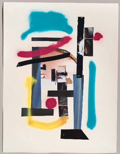 """collage 2. 22""""x 30"""" 2012 mixed media"""