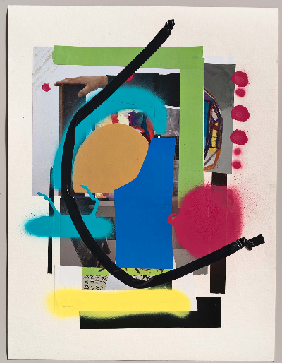 """collage 4. 22""""x 30"""" 2012 mixed media"""