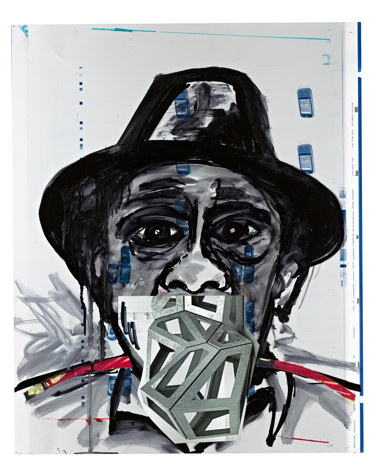 "broadway joe 23""x 29"" mixed media 2013"