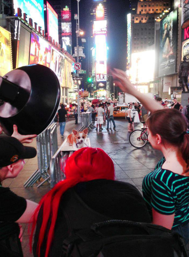 Shooting in Times Square, NYC x3 Assistants