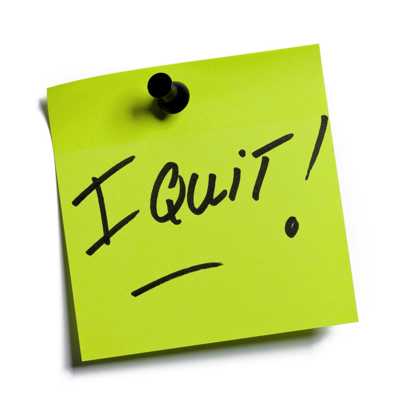 quit your job post it note