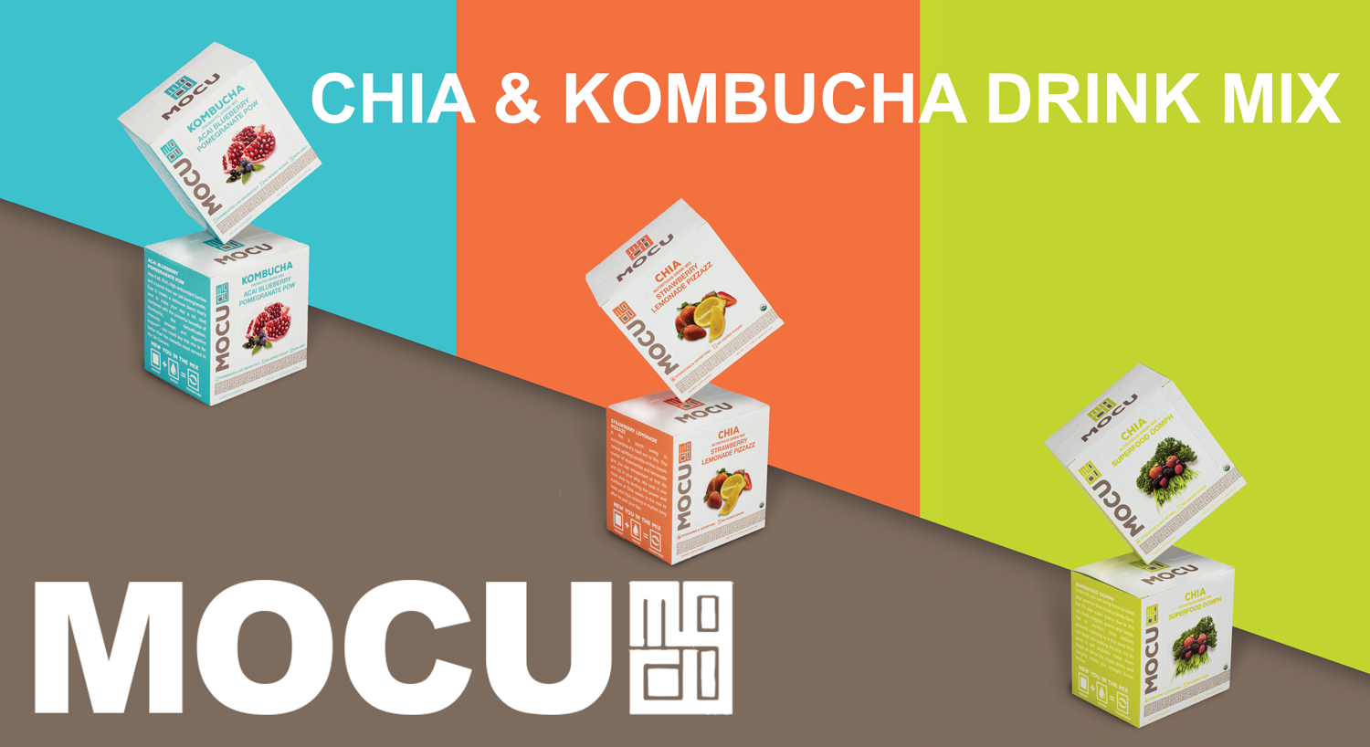 MOCU Health Drink Mixes, Kombucha and Chia, convenience  healthy, on-the-go