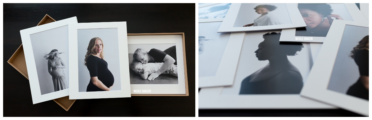 Matted print folio photography collection.