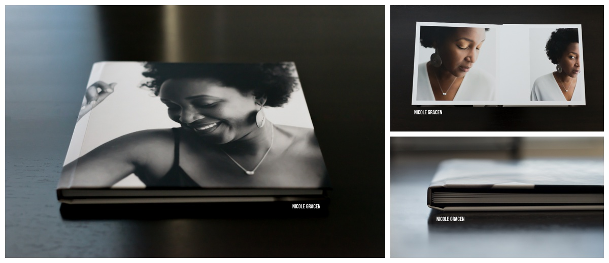 Photo albums/coffee table book with full image cover.