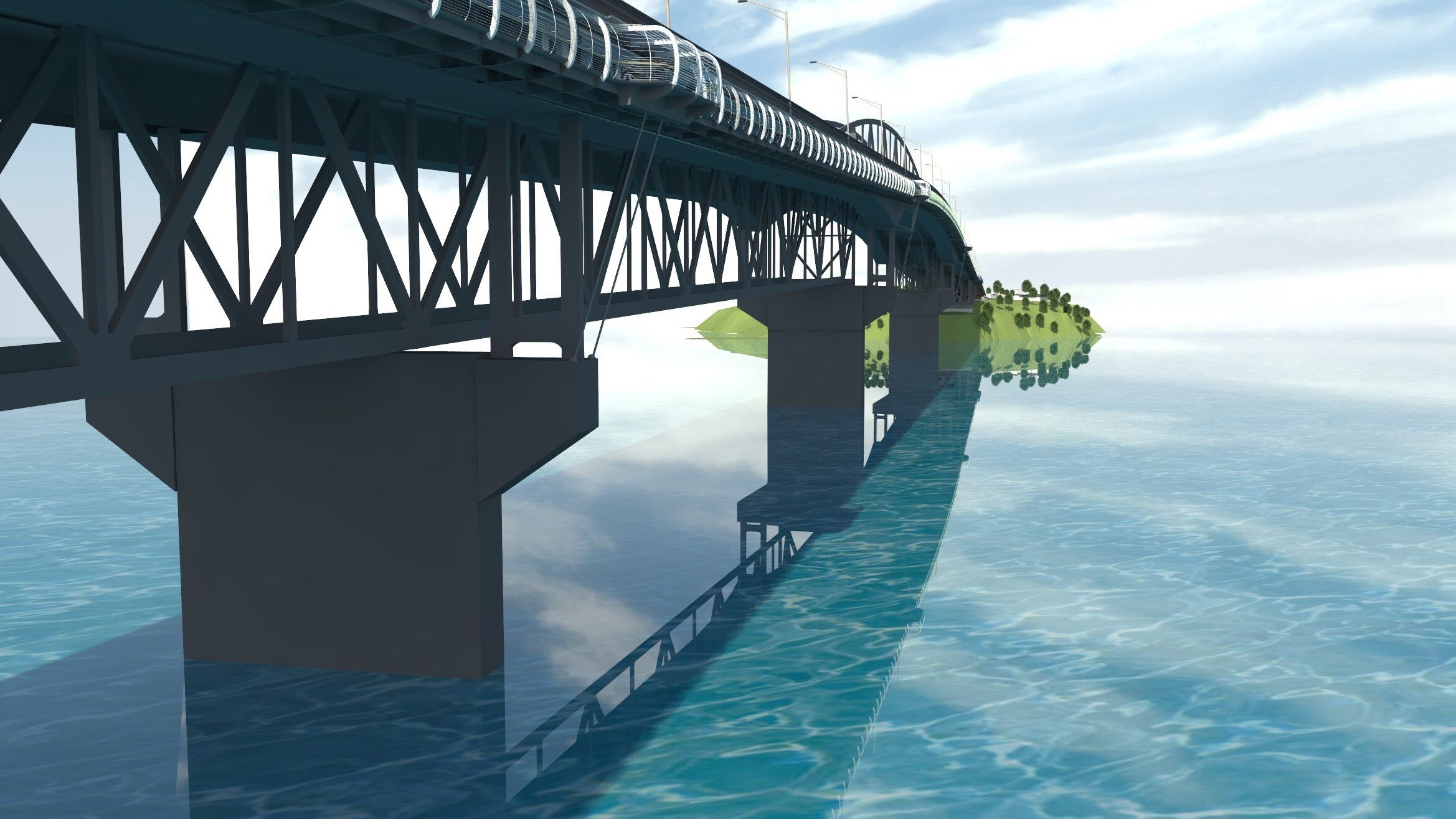 Skypath proposal, Auckland Harbour Bridge  Image: http://www.skypath.org.nz
