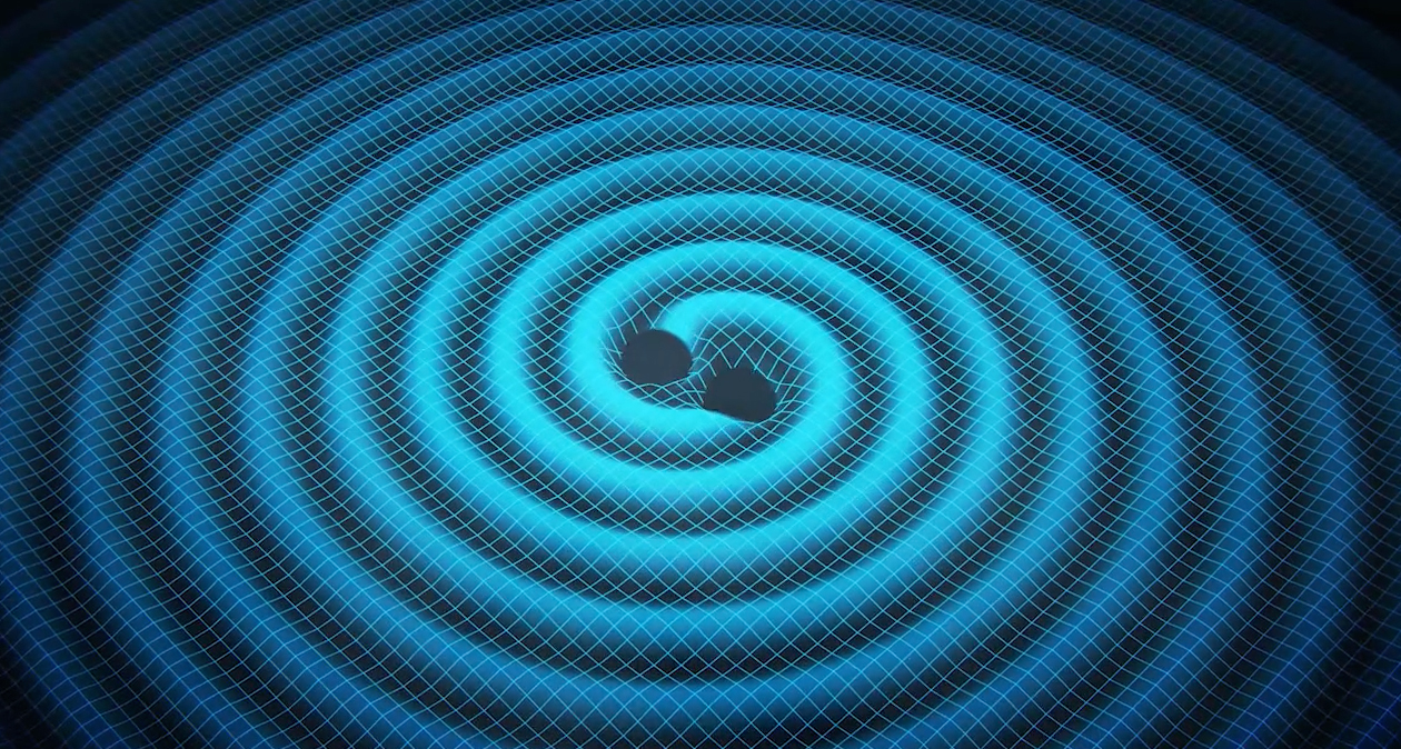 Spacetime near two orbiting black holesImage: Swinburne University