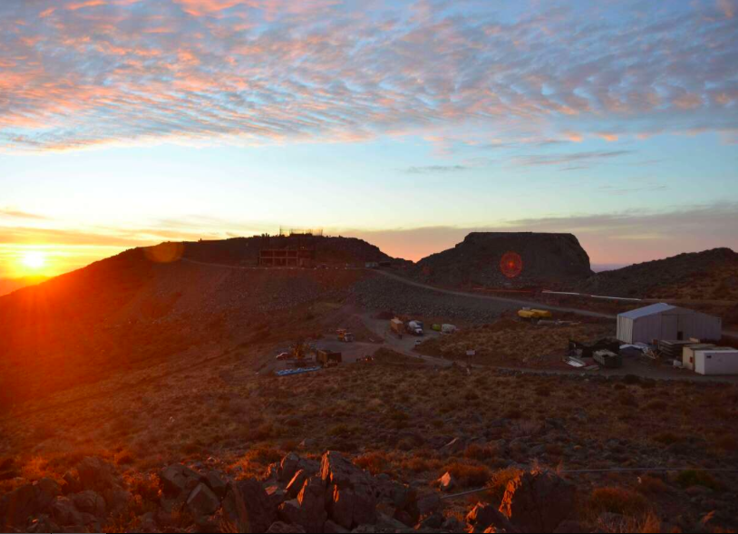 From the webcam on Cerro Pachón , future home of the LSST.