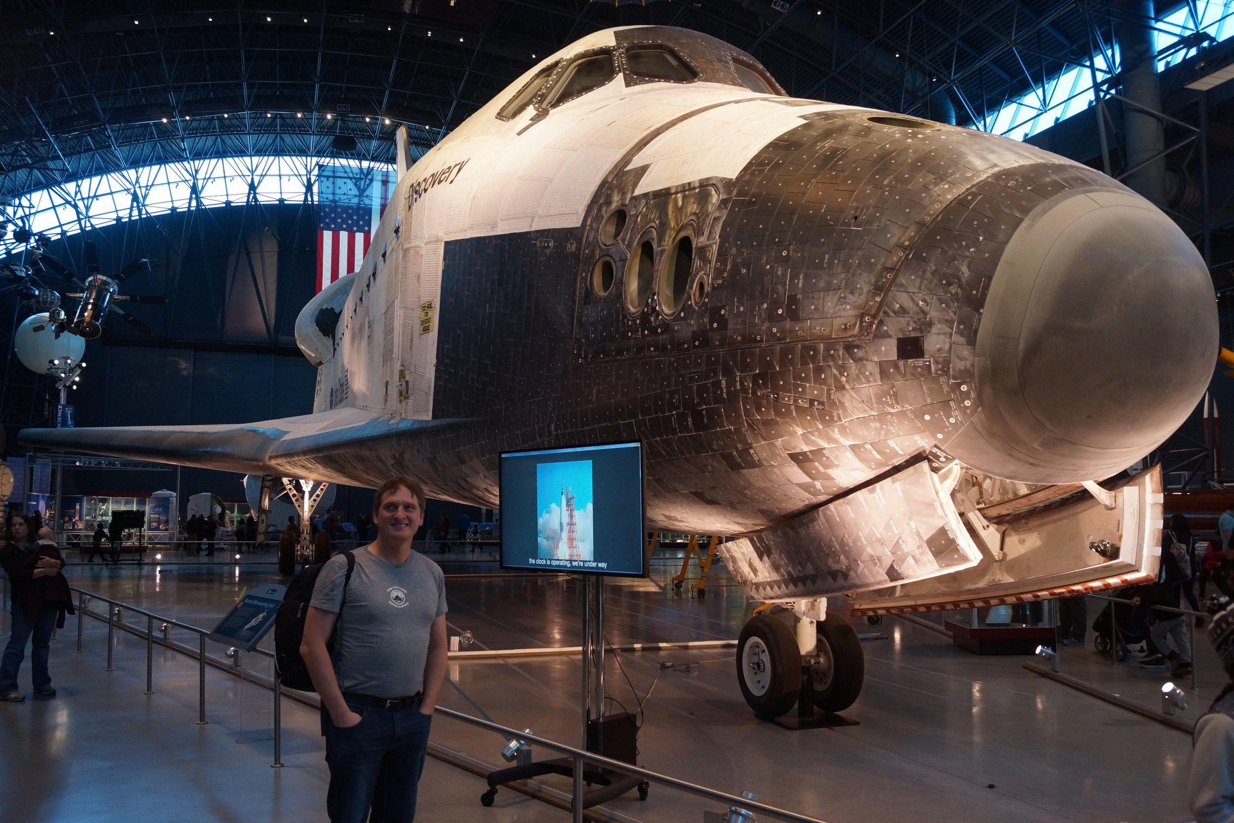 The Space Shuttle, now a museum piece.