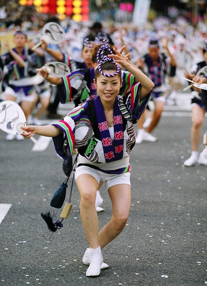 Missar Tokushimas stora dansfestival - den går i mitten av augusti.
