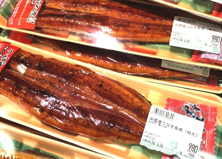 Utländsk ål blir allt vanligare när den inhemska hotas av utrotning.. Här från Kina i ett av våra lokala snabbköp.