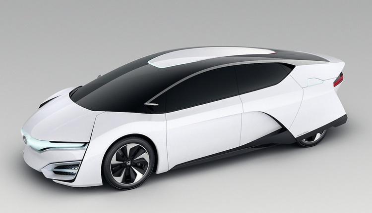 Här prototypen till den bränslecellsbil som Honda tänker släppa under 2015.. Produktionsbilen blir nog något mindre radikal till formen, kan man misstänka.  Foto: Honda Motors