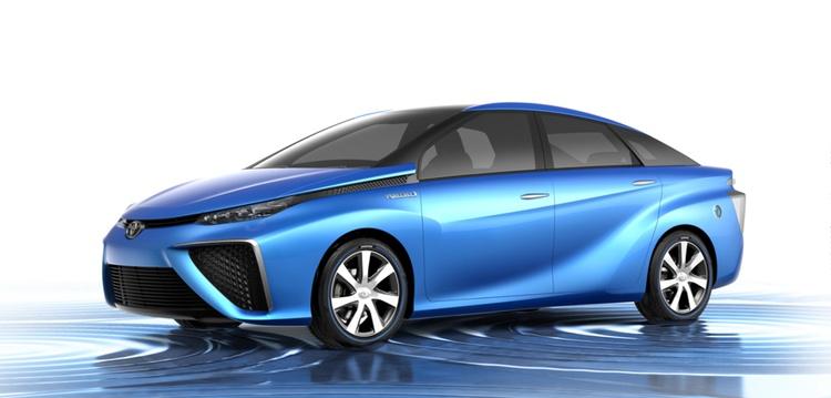 Och här prototypen till Toyotas variant, som eventuellt börjar säljas redan i år.  Foto: Toyota Motors