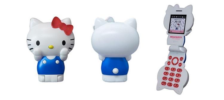 Hello Kitty som mobiltelefon - ännu en pryl för alla envetna Kitty-samlare.