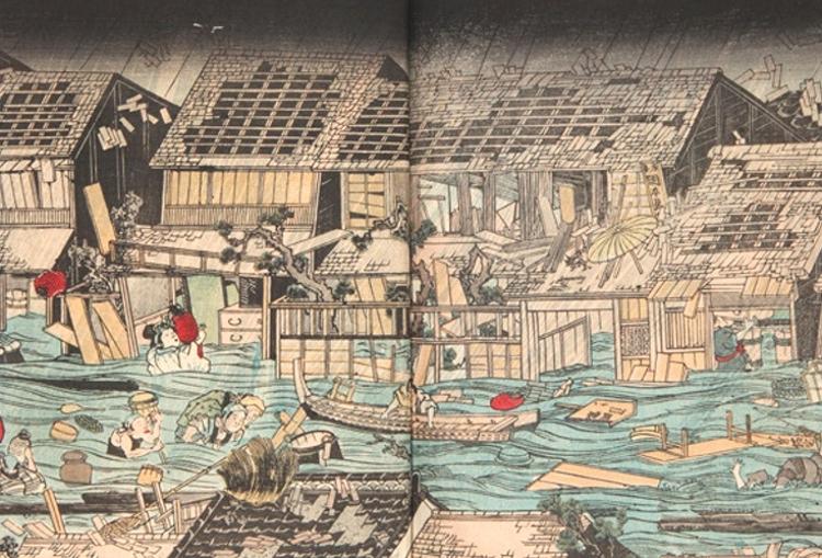 Tyfoner och översvämningar har ansatt Japan i alla tider.