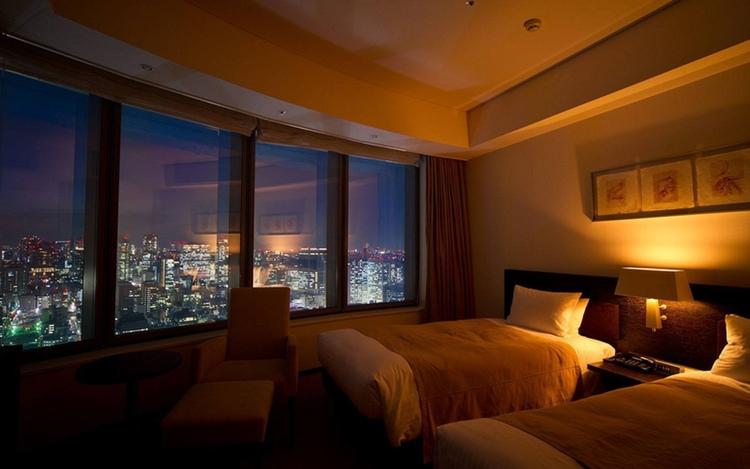 Fin utsikt från hotellrumsfönstret i centrala Tokyo.  Foto: Park Hotel Tokyo