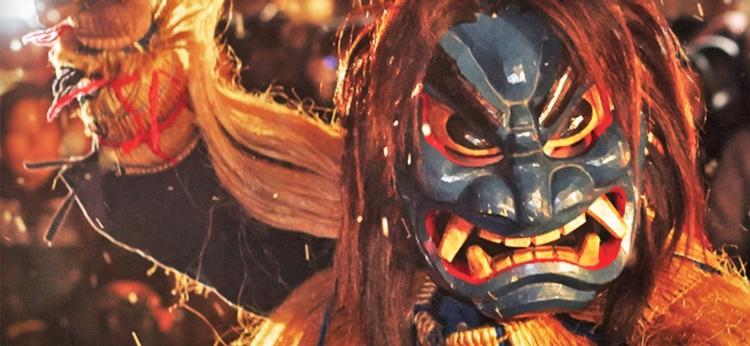 Japan är fullt av festliga och färggranna festivaler. Här en japansk djävulsfigur (oni) från Akita.  Foto: Akita Tourism Federation