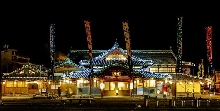 Klassiskt värdshus med varm källa i Kumamoto.  Foto: Public Domain