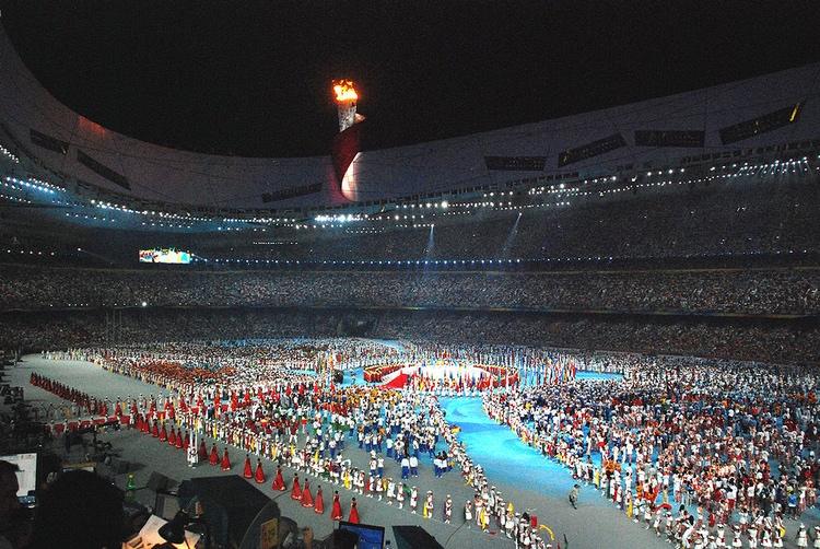 Från avslutningsceremonin under sommar-OS 2008 i Beijing.  Foto: Jmex60 - Creative Commons License