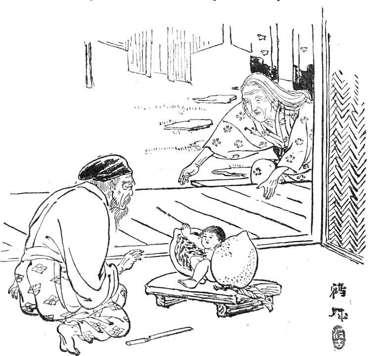 Momotaro är en av Japans mest välkända folksagor; om pojken som föddes ur en persika och blev en sorts superhjälte som slogs med demoner. Okayama har framgångsrikt gjort figuren till en sorts reklampelare för prefekturen.  Bild: Public Domain