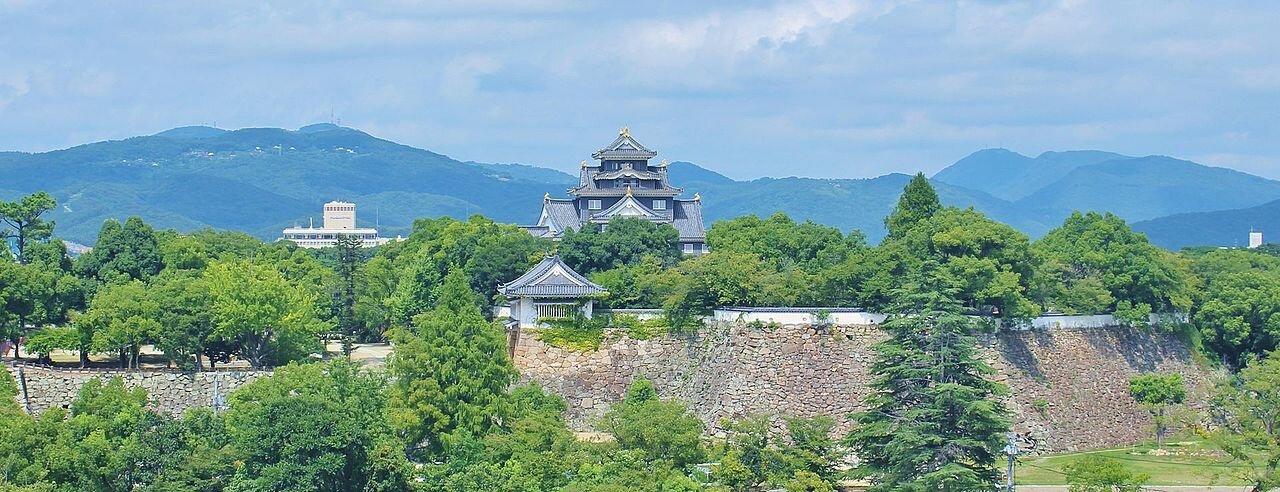 Okayamas slott..  Foto: Yoshio Kohara, Creative Commons license.